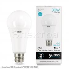 Лампа Gauss LED Elementary A67 30W E27 4100K (73229)