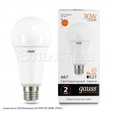 Лампа Gauss LED Elementary A67 30W E27 3000K  (73219 )
