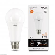Лампа Gauss LED Elementary A67 25W E27 3000K (73215)