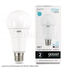 Лампа Gauss LED Elementary A67 35W E27  4100K ( 70225)