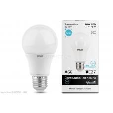 Лампа Gauss Elementary LED A60 E27 10W 4100K 1/40 (23220)