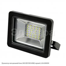 Прожектор светодиодный Gauss LED 30W IP65 6500К черный 1/60 613100330