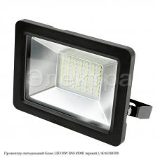 Прожектор светодиодный Gauss LED 50W IP65 6500К черный 1/40 613100350